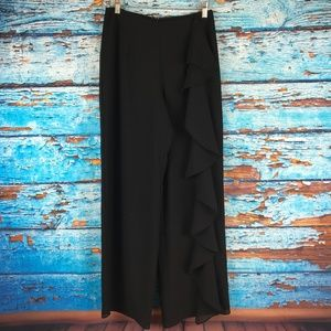 JS Boutique Dress Pants Womens Sz 4 Ruffle Front